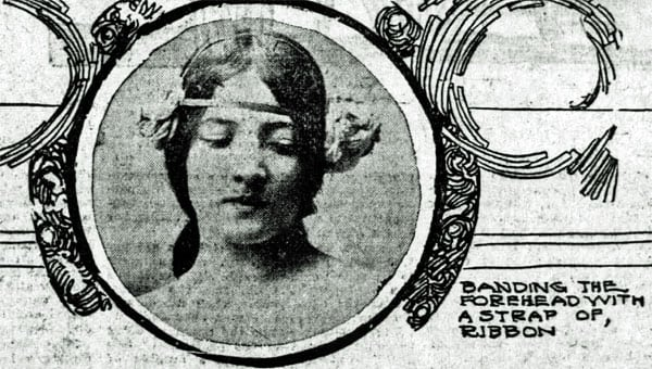 Vintage hairstyles: Banding the forehead (1902)