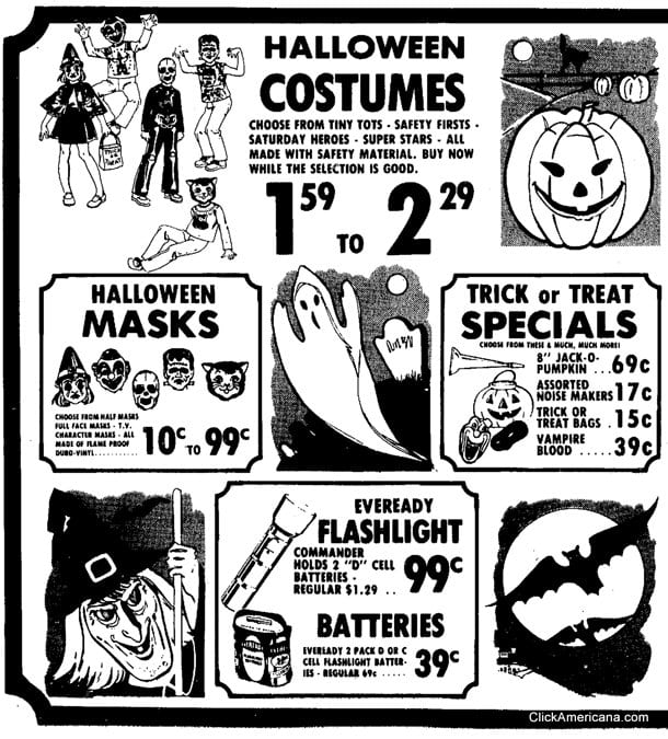 Halloween candy & costume ads (1973-1975)