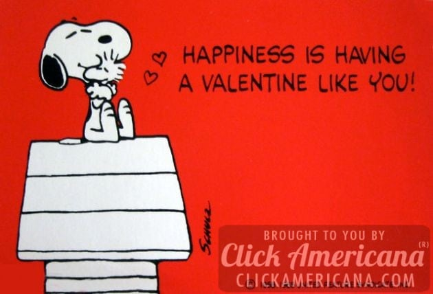 Vintage Valentine's Day card: Happiness is having a valentine like you
