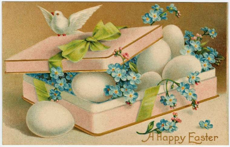 A happy Easter postcard (1900s)