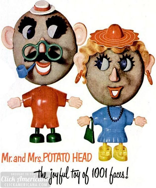 Vintage Original Mr and Mrs Potato Head commercial