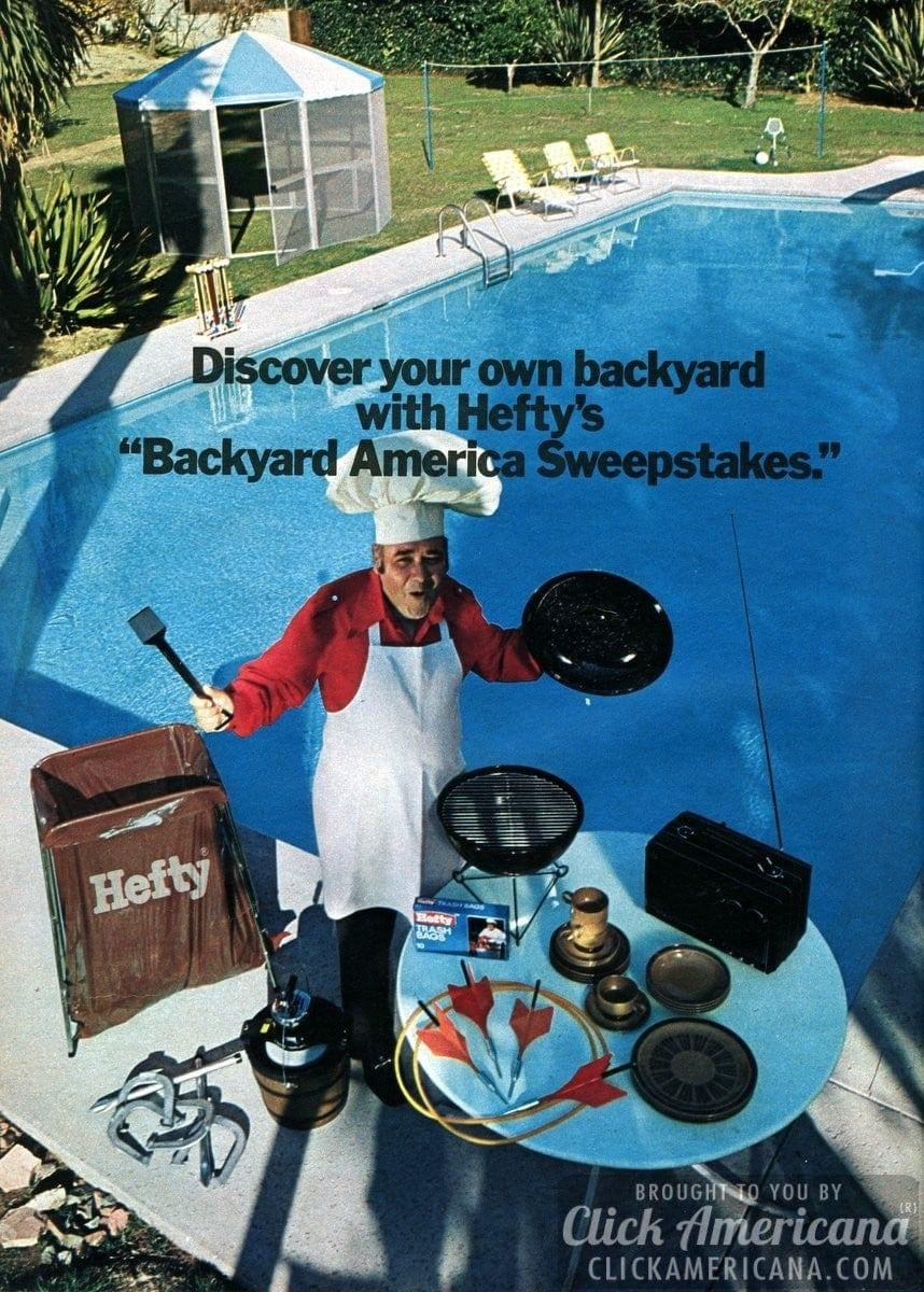 Jonathan Winters for Hefty's Backyard America Sweeps (1974)