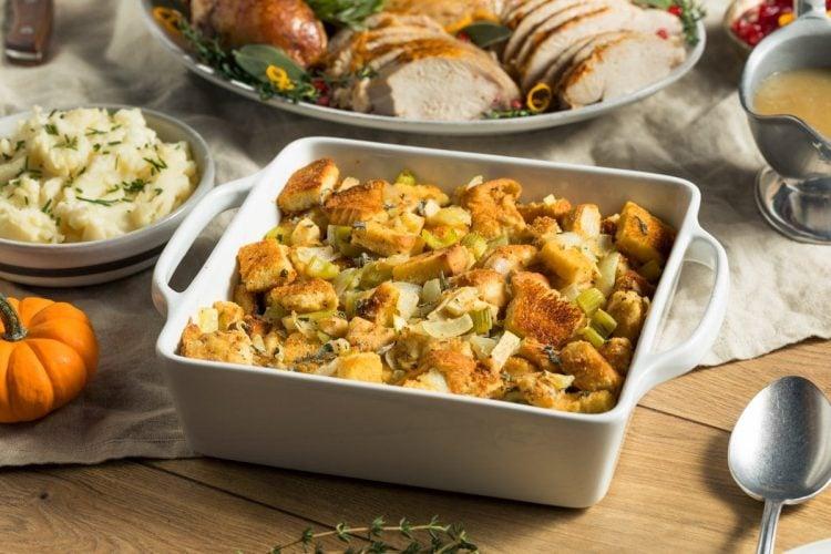 Homemade Bread Stuffing for Thanksgiving Dinner