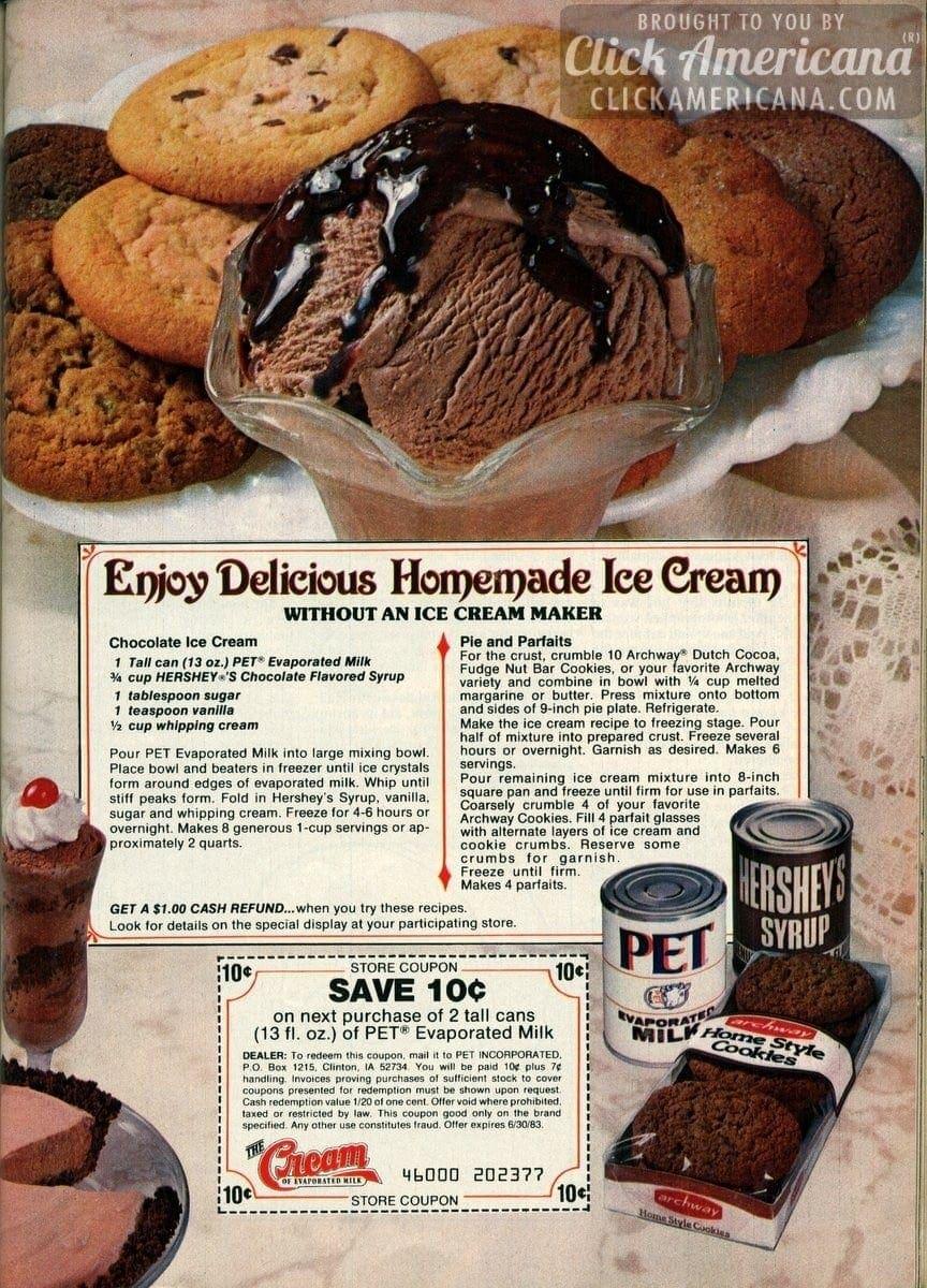 Make homemade Chocolate Ice Cream (1982)