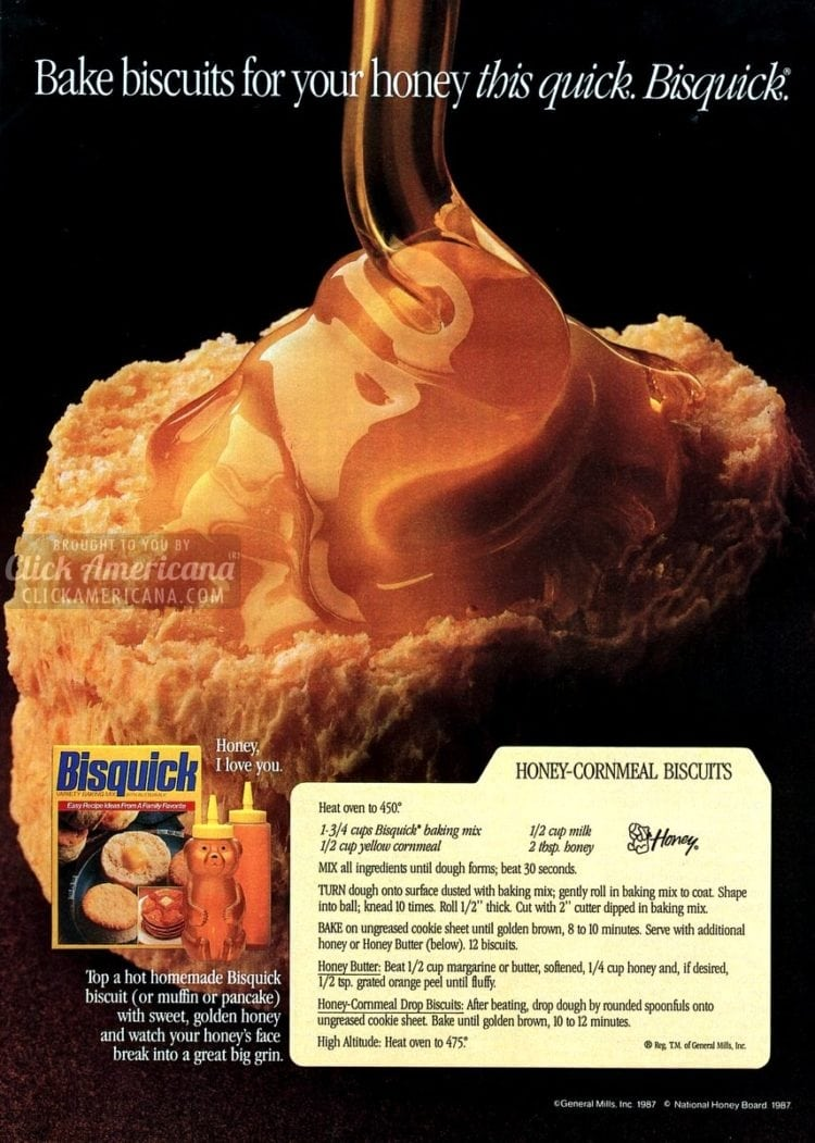 Honey-cornmeal biscuits (1987)