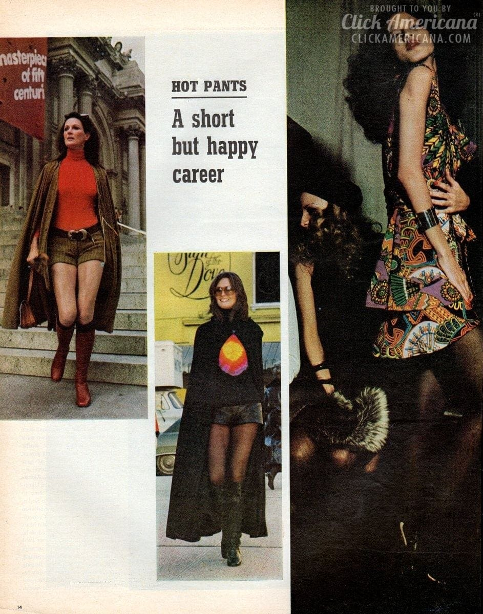 Fashion fad of the seventies: Hot pants (1971)