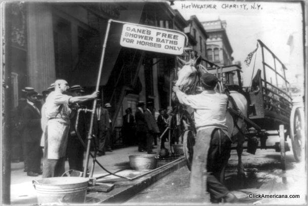 Nyc Heat Wave Hot Weather Street Scenes Early 1900s