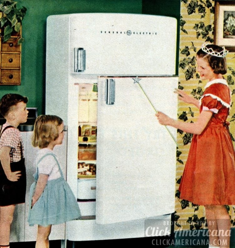 1950 - Inspire your kids to admire kitchen appliances