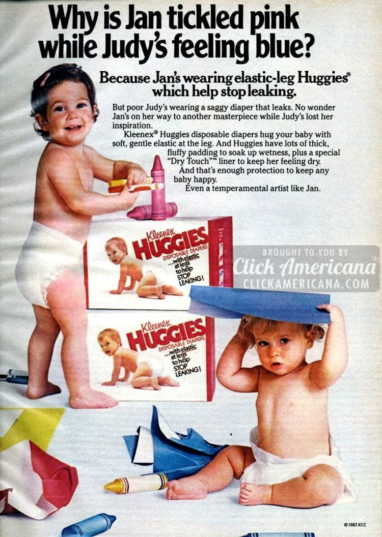 1984 Luvs Diapers Your Babies Comfort toddler babies 1 Page Vintage Print Ad