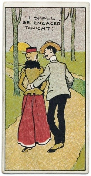 How the engaged couple should act (1911)