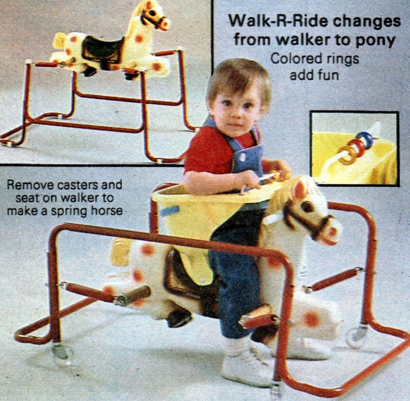 intage ride-on spring horse toys from the 1980s (1)