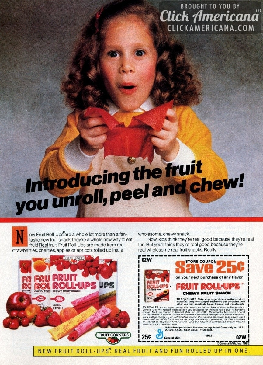 Introducing new Fruit Roll-Ups (1982)