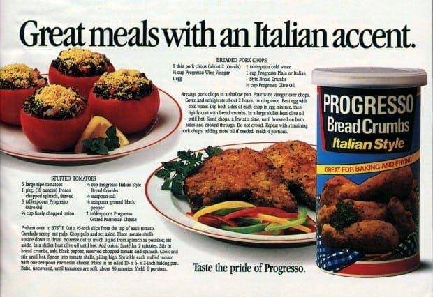 Stuffed tomatoes & breaded pork chop recipes (1987)