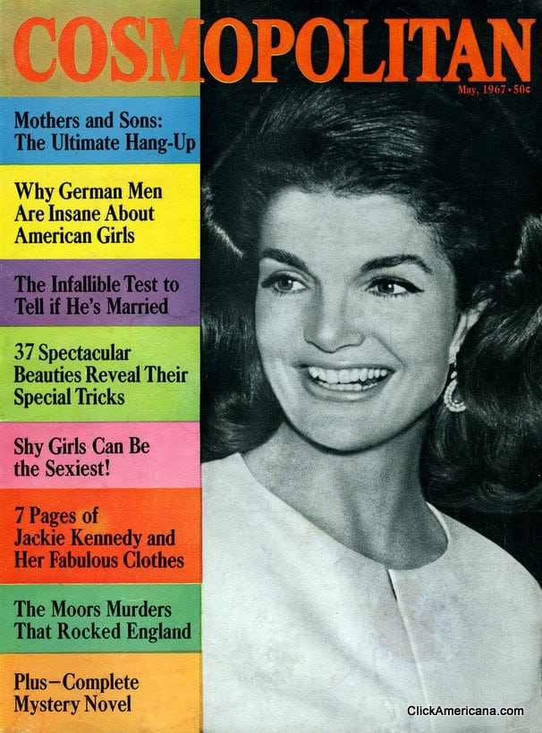Jackie Kennedy on the cover of Cosmo (1967)
