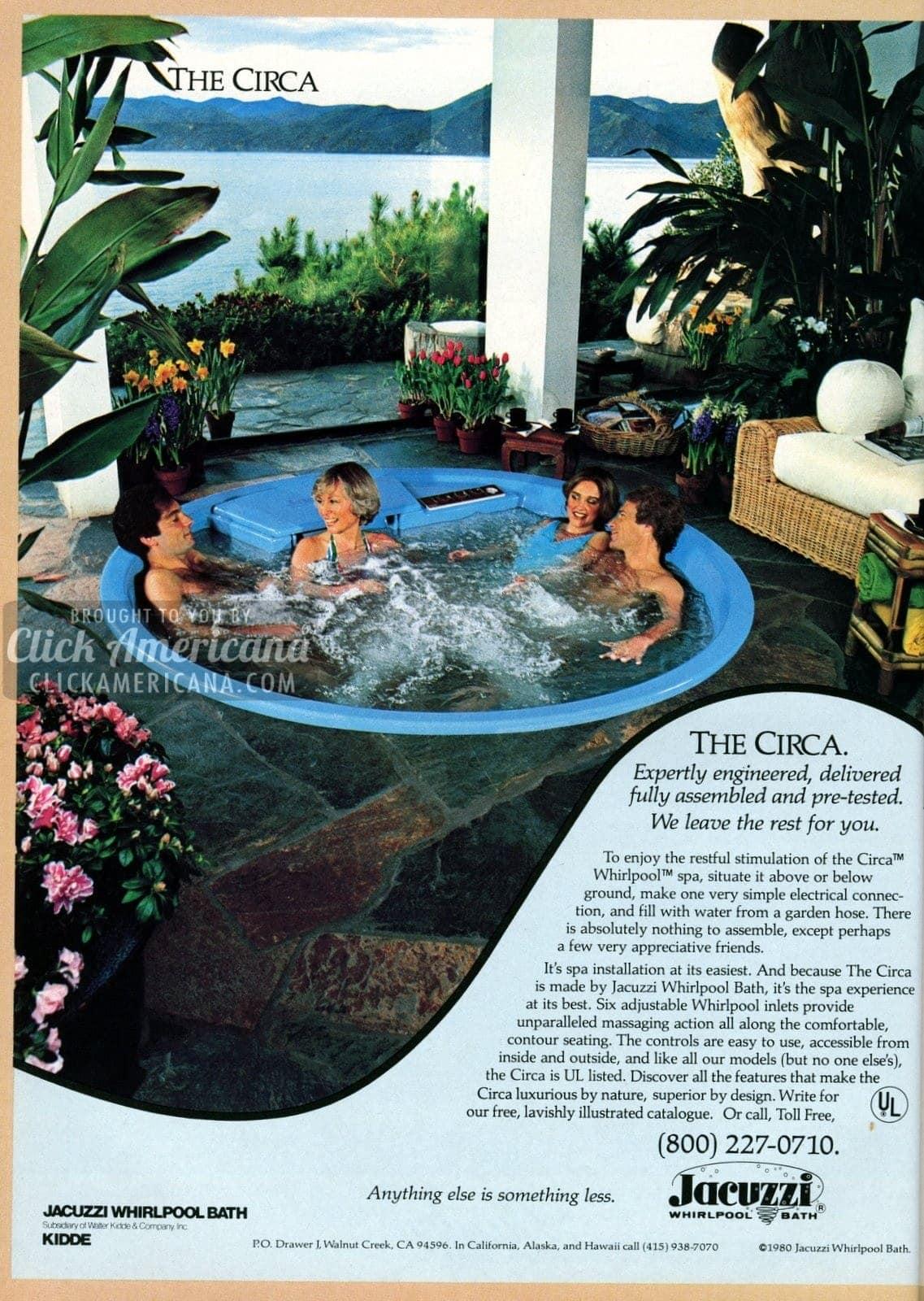 Backyard spa: Circa hot tub from Jacuzzi (1981)