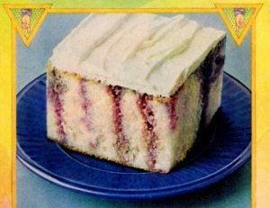 Purple Jell-O poke cake recipe (1978)