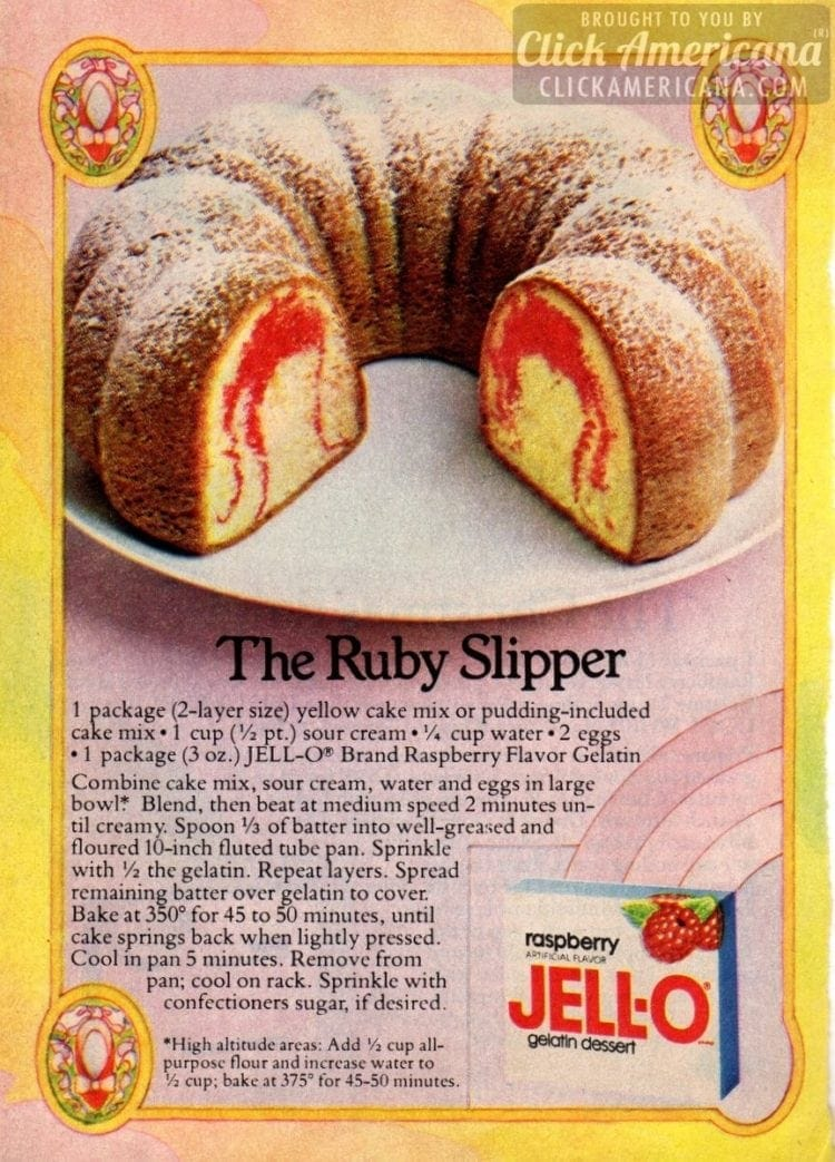Ruby Slipper Bundt cake recipe