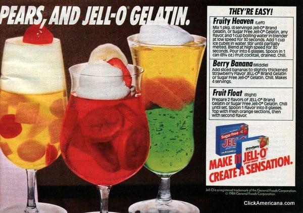 5 Jell-O treats with fruit (1985)
