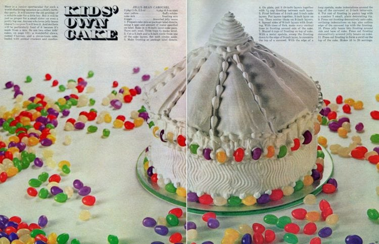 Jelly bean carousel cake recipe