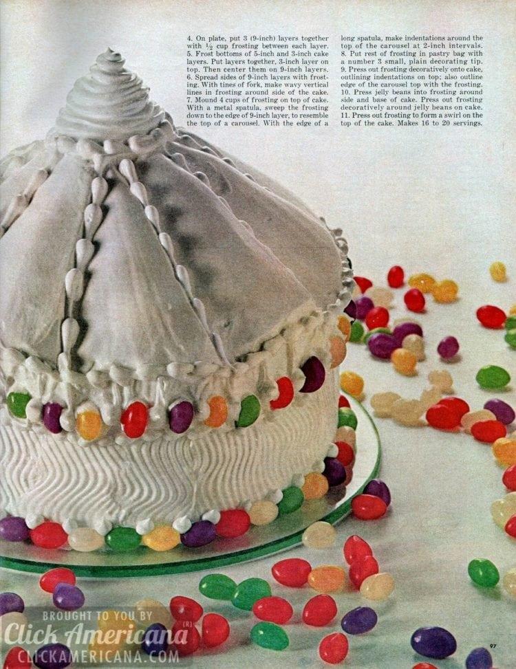 Jelly bean carousel cake recipe