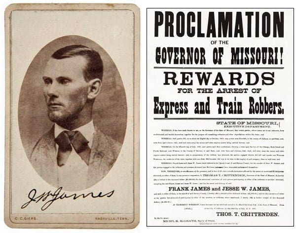 First account of Jesse James' assassination