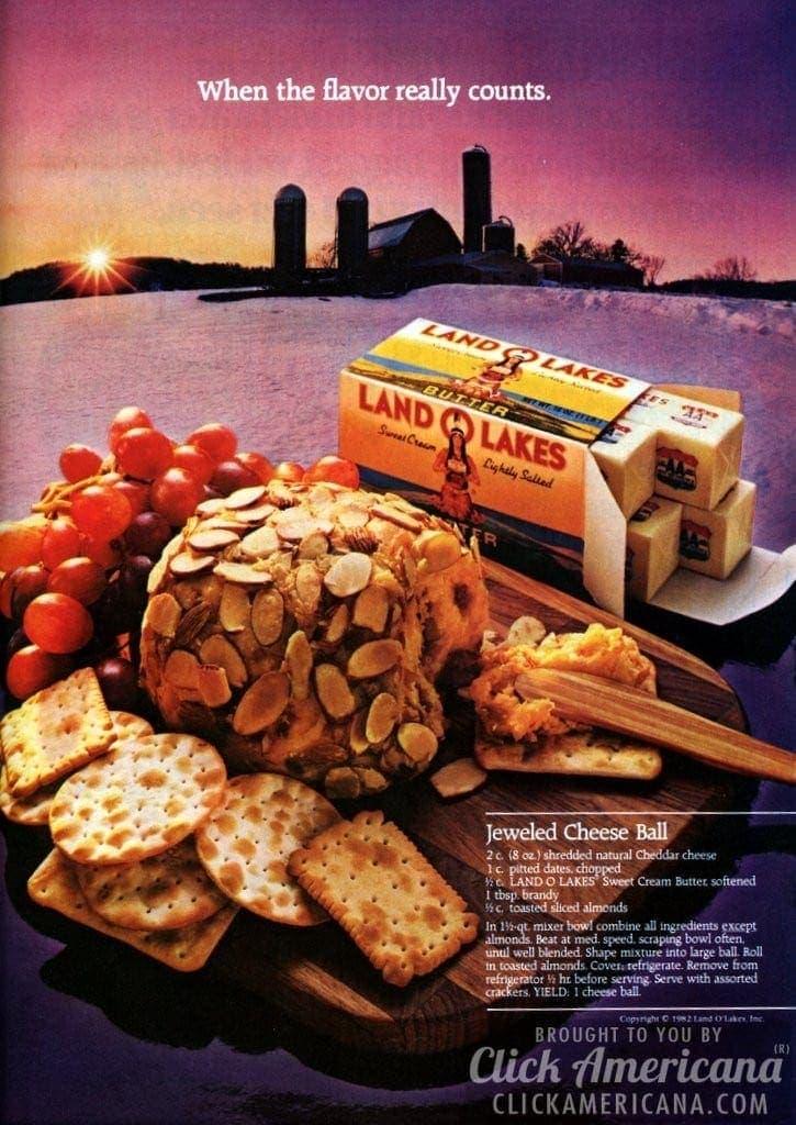 Jeweled cheese ball recipe (1982)