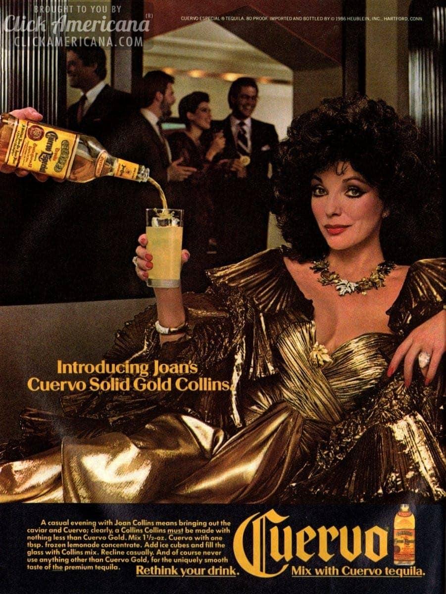 Joan Collins Cuervo Solid Gold Collins 1987 Click