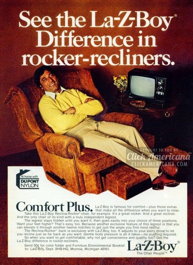 Joe Namath For La Z Boy Recliners 1970s Click Americana
