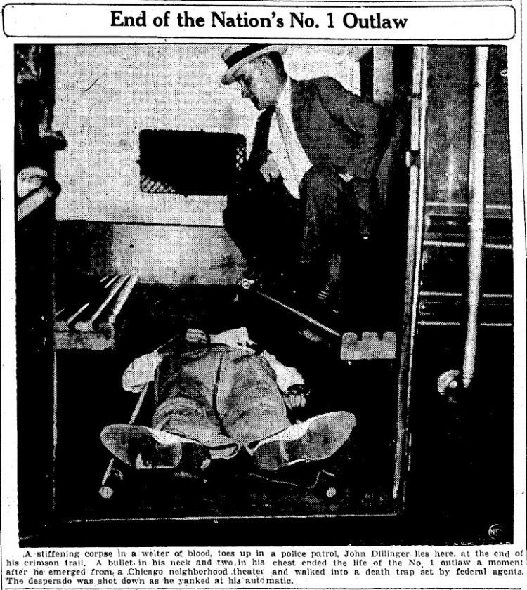 john dillinger killed 1934
