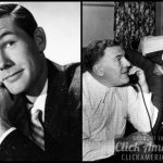 William Bendix and Johnny Carson from the television program The Johnny Carson Show 1955