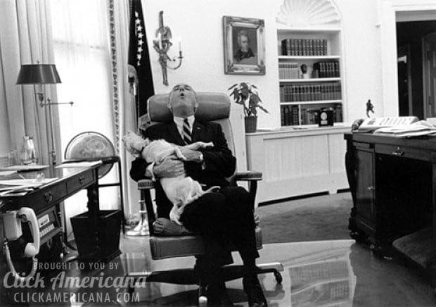 johnson-with-yuki-white-house 1968
