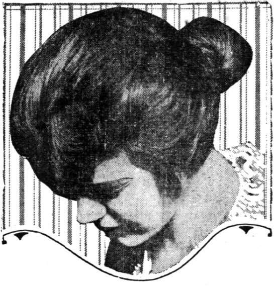 Jug-handle hairstyle for the business girl (1915)