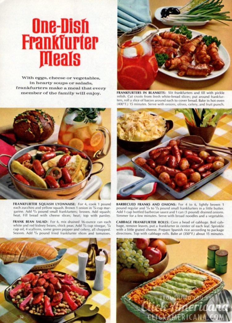 11 One-dish hot-dog meals (1965