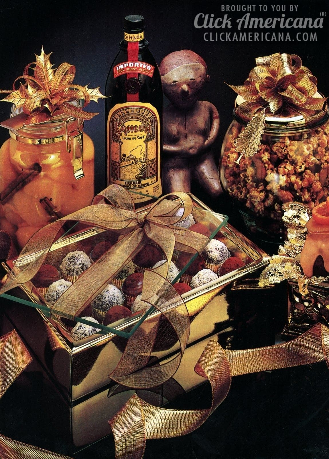 Holiday recipes featuring Kahlua liqueur (1987)