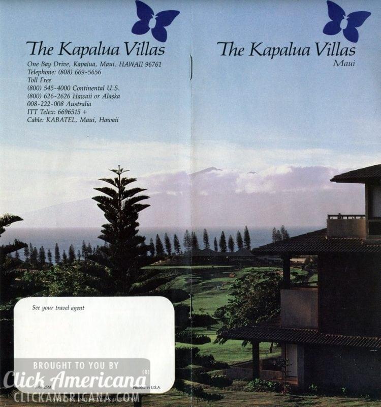 Along the Maui coastline, the new Kapalua Villas (1978)
