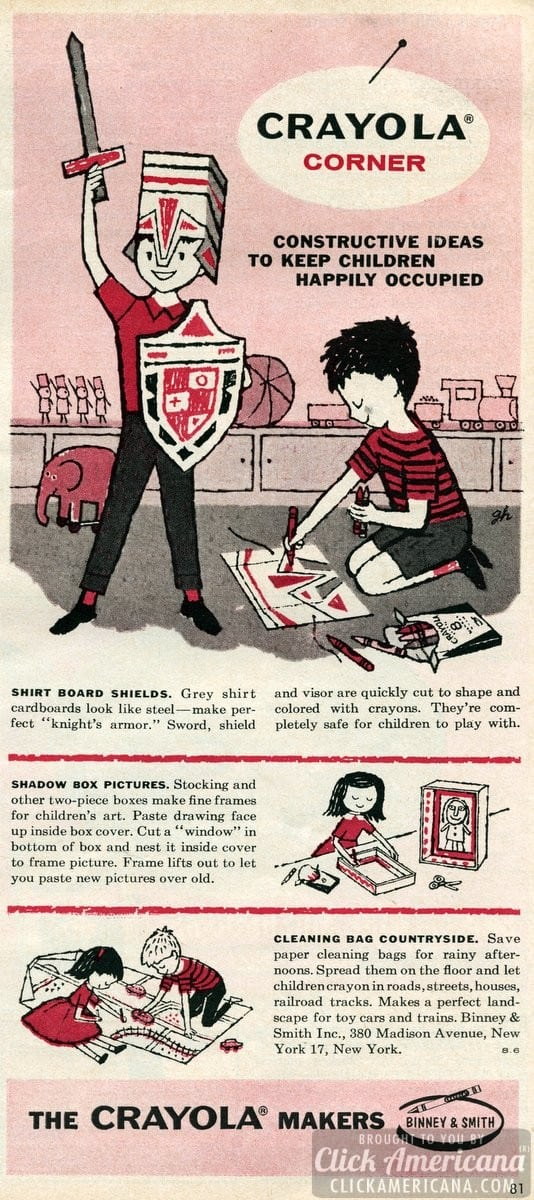 Clever crafts for kids with crayons & paper (1959)