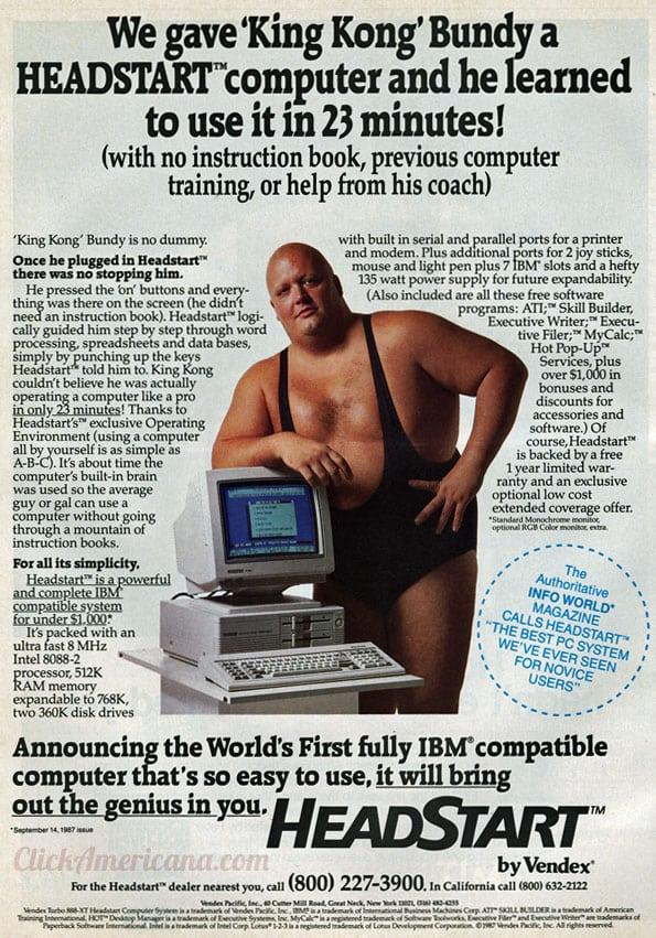 King Kong Bundy is a computer pro (1987)