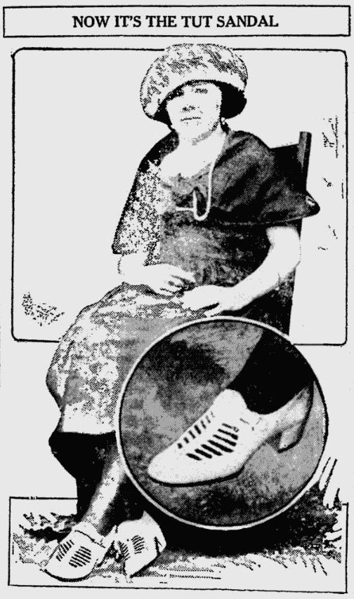 The new King Tut sandal (1923)