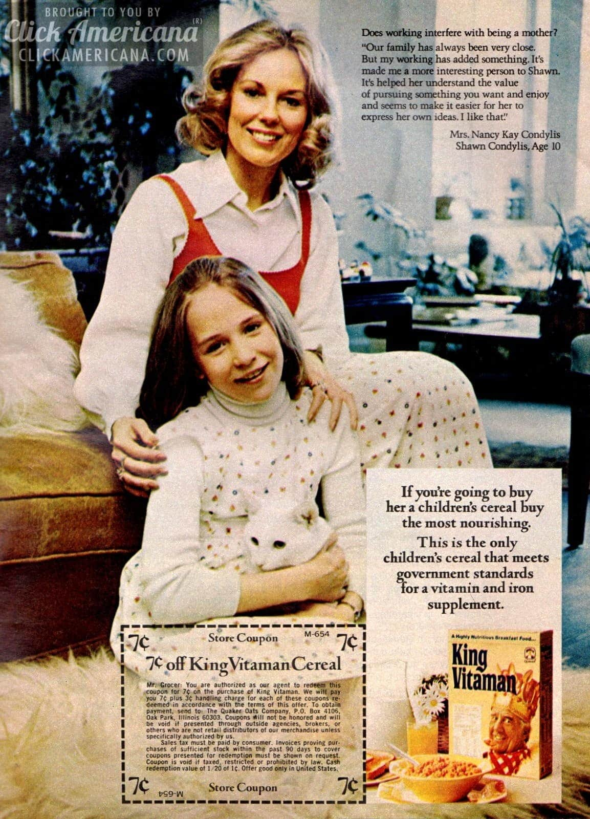 King Vitaman cereal: Get your vitamins in your breakfast (1974)
