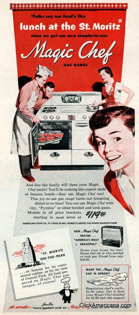 Gas kitchen ranges (1950)