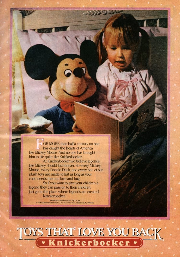 Knickerbocker: Mickey Mouse - Toys that love you back (1981)