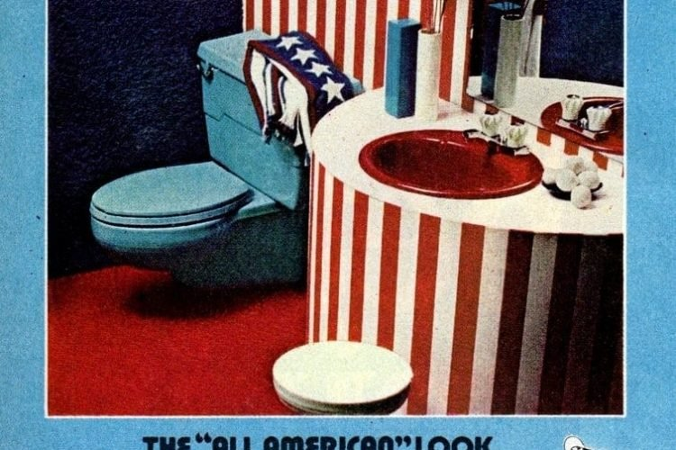 How To Create Super Colorful Powder Rooms 1972 Click