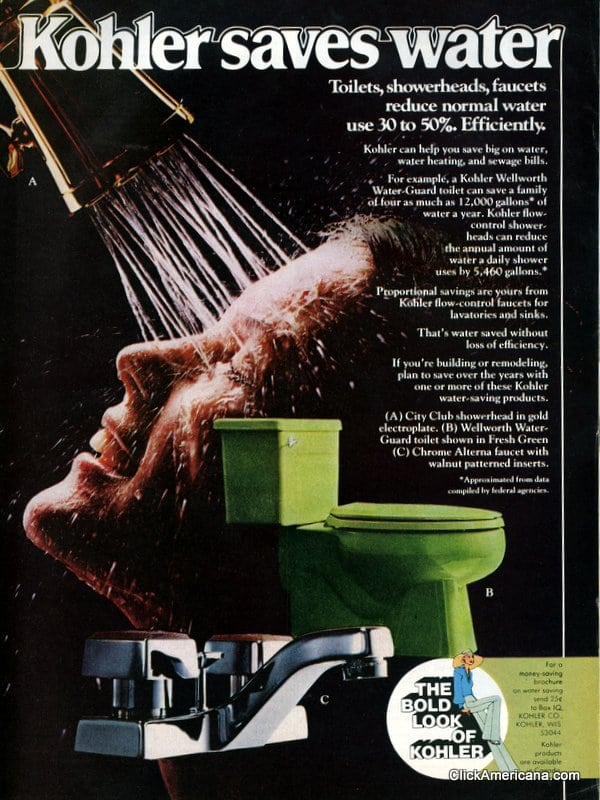 See. Colorful Kohler bathroom suites  1967  amp  1975    Click Americana