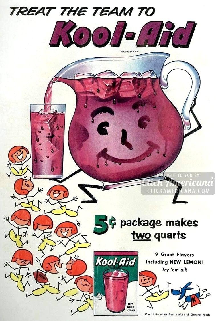 1960 Tangerine KOOL-AID Beverage vintage drink ad | eBay |Magazine Ads 1960 Kool Aid