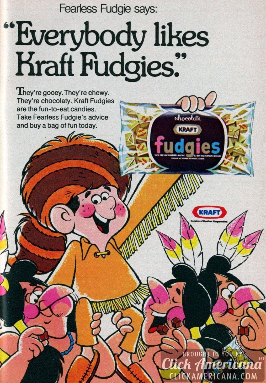 Fearless Fudgie says Everybody likes Kraft Fudgies (1971)