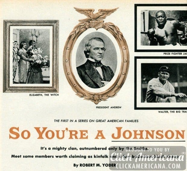 So your last name is Johnson… (1955)