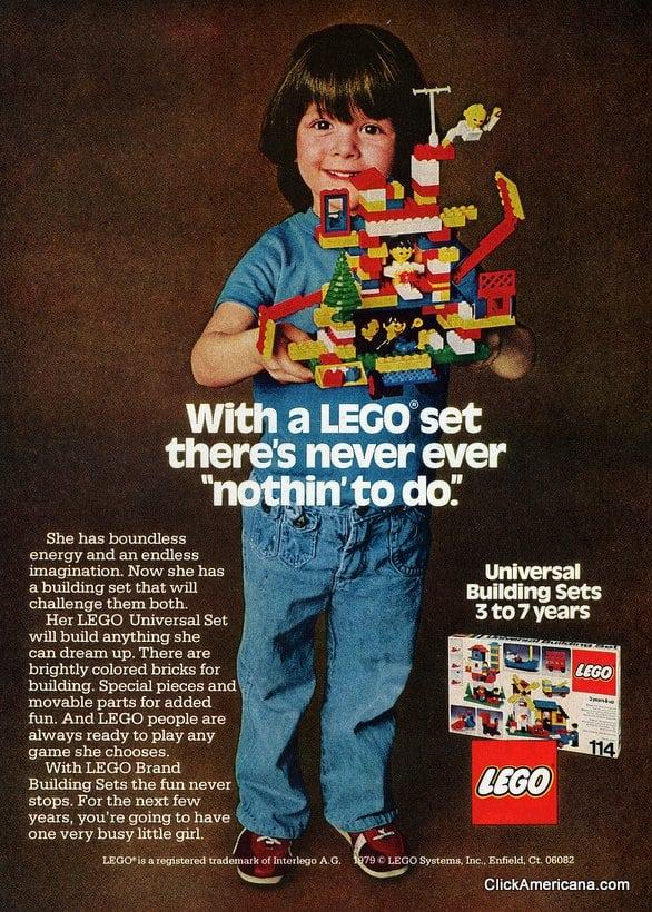 Girls love Lego toy blocks, too! (1979)