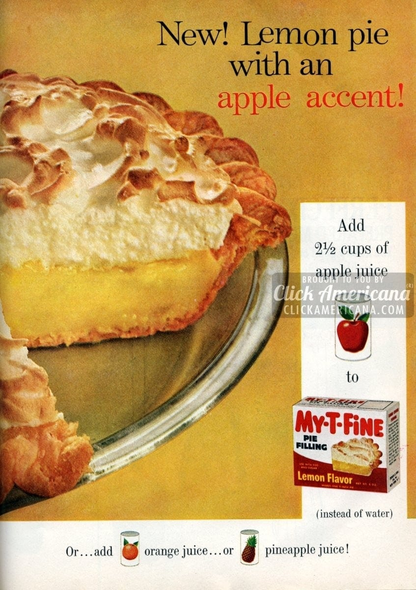 Lemon pie with an apple accent (1961)