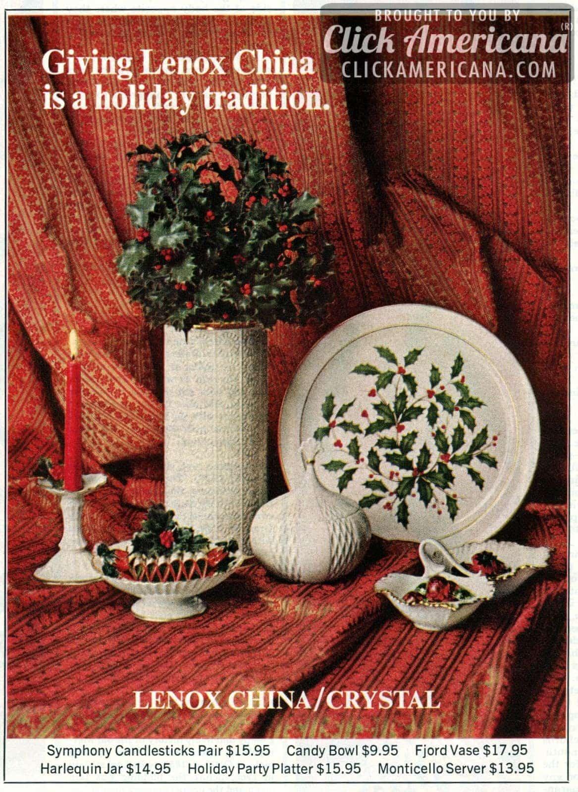 Lenox china is a holiday tradition 1969 1972 click americana reviewsmspy