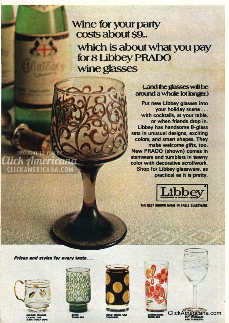 Libbey Prado wine glasses.